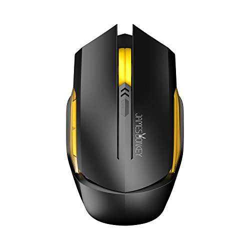 James Donkey Optical Wireless Gaming Mouse Mice for Mac PC,
