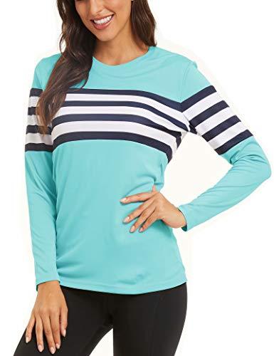 MAGCOMSEN Women's UPF 50+ UV Sun Protection T Shirts Long Sleeve Performance Workout Running Shirts