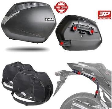 SH36BOHE6 - Kit fijaciones y maletas laterales + bolsas internas regalo SH36 compatible con YAMAHA TRACER 700 2016-2017