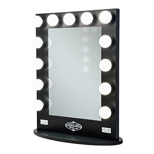 vanity girl hollywood broadway lighted vanity mirror gloss black x 26 5 desertcart. Black Bedroom Furniture Sets. Home Design Ideas