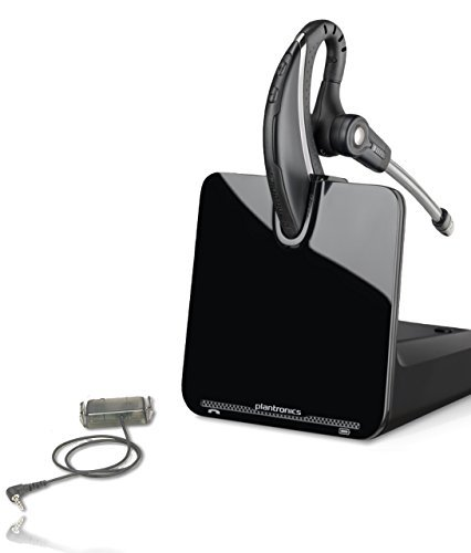 NEC Phone Compatible Plantronics CS530 Wireless Headset Bundle | NEC Phones : DSX 34 Button Series 2 or Higher | DSX Full-Duplex Backlit Super Display Telephone | Electronic Answerer (EHS) Included ()