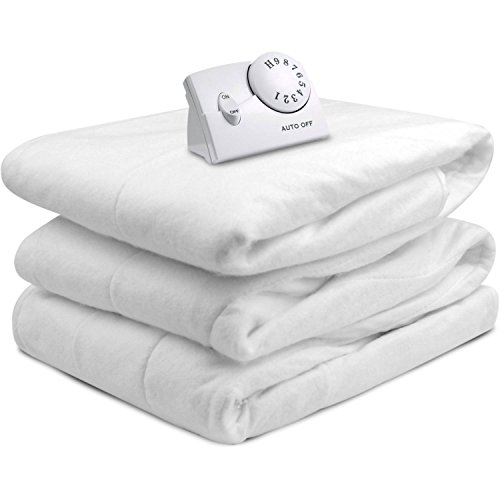 Heated Mattress Pad. Best Comfort Hypoallergenic White Topper Pillow For Deep Healthy Sleep. Firm Protection Cover, Protects Bed From Stains, Dirt, Dust & Wetness. w/ Timer. (Twin) (Furniture Lincoln Bedroom Park)