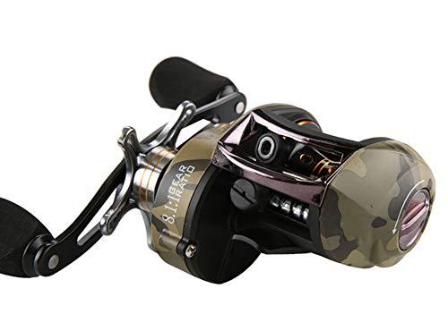 SH-QIAN Carrete De Pesca Rueda De Goteo Relación De Velocidad 8.1: 1 Nylon Fuerte Freno Magnético 12 + 1BB Equipo De Pesca Ligero,Lefthand por SH-QIAN