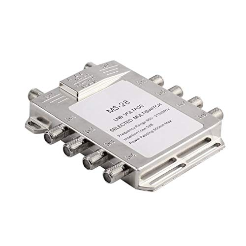 Chelsea Portable 2x8 JS-MS28 Satellite Signal Multiswitch LNB Voltage Selected Switch Silver ()
