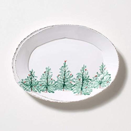 Vietri Lastra Holiday Small Oval Platter ()