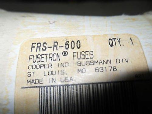 Buss Fusetron Fuse FRS 600 600V 600A New Surplus