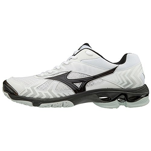 Mizuno (MIZD9) Men's Wave Bolt 7 Volleyball Shoe, White/Black, Men's 9 D US