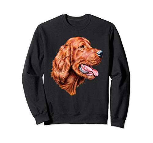 Sweatshirt Gift Irish Setter Owner Full-Face Irish Setter. (Irish Pets Setters)