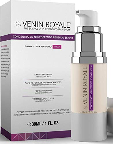 Venin Royale - Snake Venom Anti-Aging and Anti-Wrinkle Peptide Serum for Fine Lines, Rosacea, Uneven Tone | Best Skin Care for Face, Hands & Neck | Neuropeptide Treatment & Botox Cream (1oz)