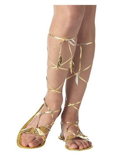 Golden Goddes Sandals for Adults S (Greek Goddess Sandals)