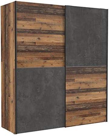 Armario de puertas correderas RASANTI 170 cm DEDERIK de Forte Old Wood Vintage/hormigón gris oscuro: Amazon.es: Hogar