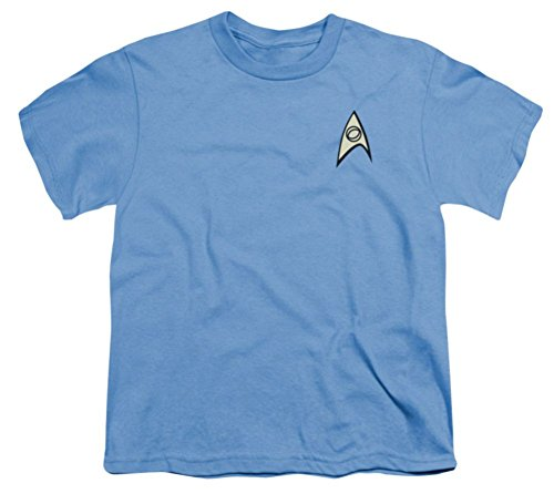 Star Trek Original Series Uniform (Youth: Science Uniform Star Trek The Original Series T-Shirt)