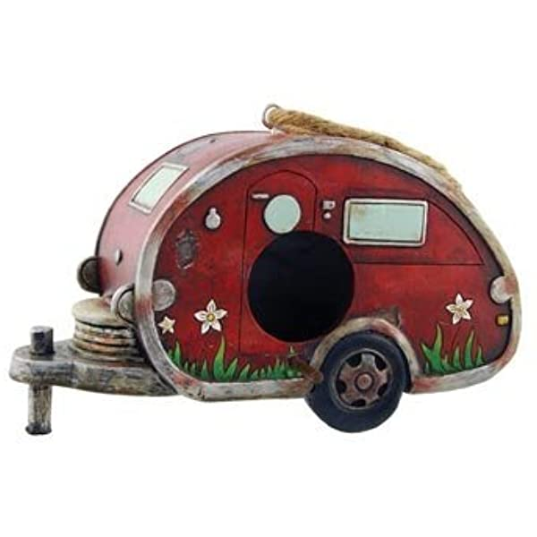 Amazon Com Birdhouse Camper Trailer Rv Collectible Garden Decor 8 Inch One Pack Bird Houses Garden Outdoor