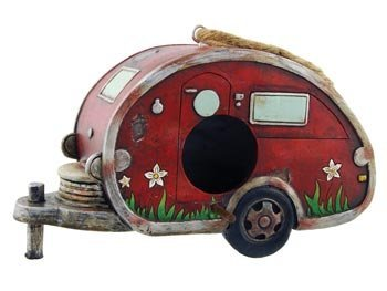 Birdhouse Camper Trailer, RV Collectible Garden Decor, ()