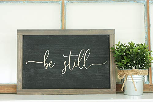 Mildred Rob Be Still 9x13 Plaque Sign Wooden Sign Farmhouse Unframe Psalm 4610 Bible Verse Know That I Am God Wood Sign