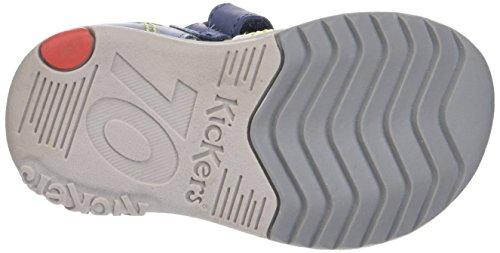 Sandales Bleu Garçon Bébé Kickers marine Platiback Gris 4I5aBwnqx