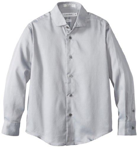 Calvin Klein Big Boys' Sateen Dresswear Shirt