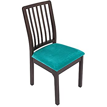 Amazon Com Soft Velvet Dining Room Chair Seat Covers