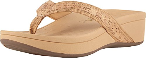 Vionic Women's Pacific High Tide Toepost Sandals – Ladies Platform Flip Flops with Orthotic Arch Support