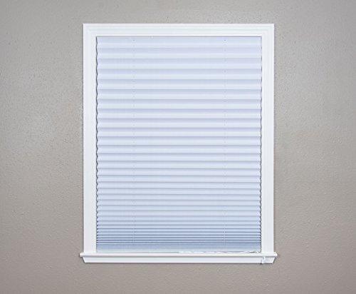 Original Corded Lift Light Blocking Pleated Fabric Shade White, 36