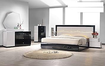 Amazon.com: Modern Berlin 4 Piece Bedroom Set California ...