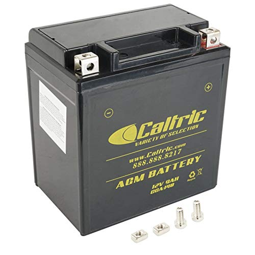 CALTRIC AGM BATTERY compatible with YAMAHA RIVA 180 180Z XC180 XC180Z 1983 1984 1985 (Riva Yamaha)
