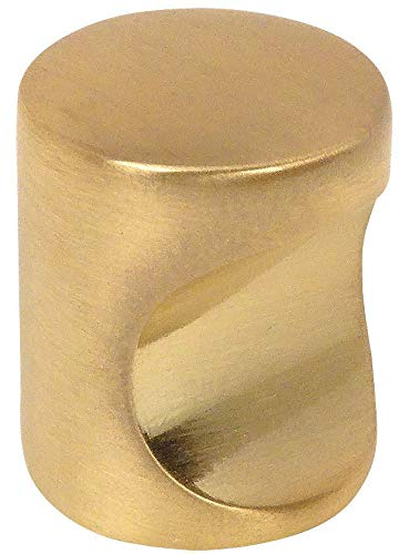 10 Pack - Cosmas 3312BB Brushed Brass Contemporary Cabinet Hardware Finger Pull - 3/4