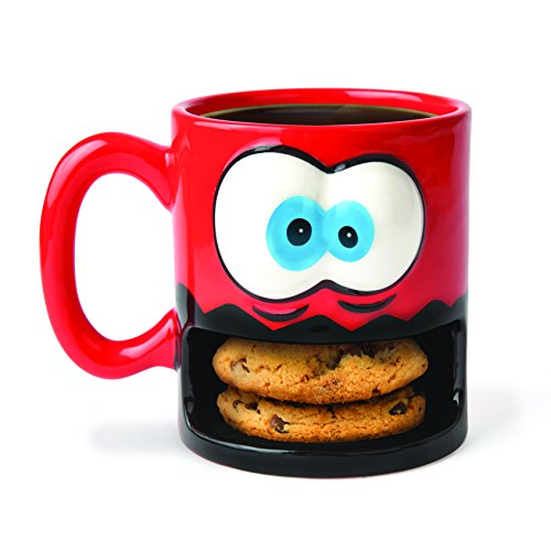 BigMouth Inc Crazy for Cookies Coffee Mug, Milk and Cookies Holder, Ceramic Cup for Coffee and Tea with Handle, Funny Novelty Cup