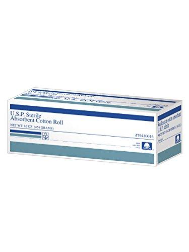 U.S. Cotton 100% Cotton Roll, U.S.P Sterile Cotton, Absorbent, 16 Ounce/1 Pound Roll by U.S. Cotton