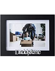 Klikel Daddy and Me Picture Frame - Black Wood Frame with Silver Sentiments - Holds 1 4x6 Photo with Mat or 1 5x7 Photo Without Mat - Wall Mount and Table Desk Display