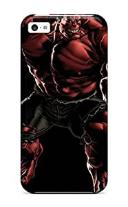 Tpu Fashionable Design Red Hulk Rugged Case Cover For Iphone 5c New
