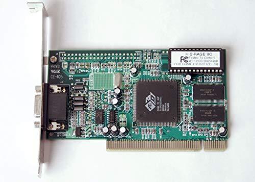 ATI Rage IIC OEM PCI Slot VGA Video Card with 4MB Memory Supports Legacy Windows 95,98, NT 4.0 and OS/2 Warp OS.