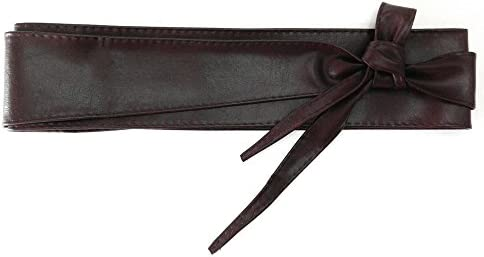 MYB Ceinture r/églable /à nouer en simili-cuir Taille unique Divers coloris disponibles