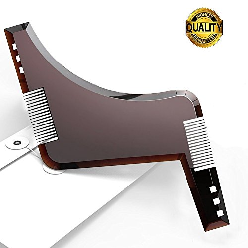 BOXAN All-in-one Beard Comb Beard Shaping Template Tool for Line up & Edging - Grooming & Shaving Kit For Men, Make Styling of Multiple Mordern Beard Styles