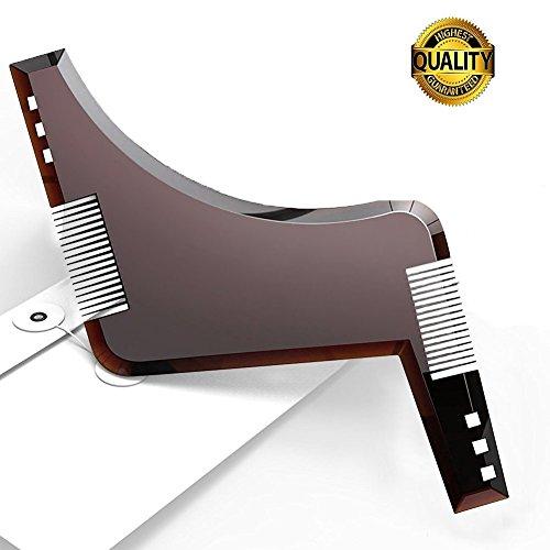 BOXAN All-in-one Beard Comb Beard Shaping Template Tool for Line up & Edging - Grooming & Shaving Kit For Men, Make Styling of Multiple Mordern Beard Styles