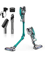 Cordless Vacuums, HONITURE H10 Stick Cleaner 250W Powerful Suction 3.5 pounds Lightweight with LED, Working 40 mins, 180 Foldable Upgrade Removable Battery for Pet Hair Cleaning