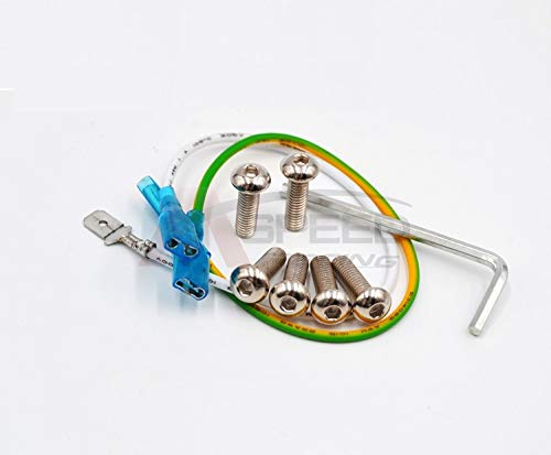 (AutoE 6pcs Burnt Titanium Sliver Round Steering Wheel Bolts Screw Kit for Nardi for Momo NRG Works Bell Boss)