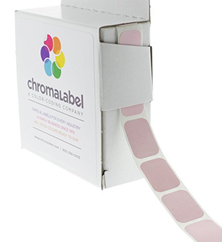 "1/2"" x 3/4"" Pink Square Color-Coding Stickers 