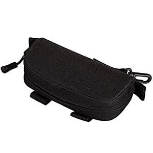 SODIAL Nylon Eyeglasses Hard Case Anti-Shock Molle System Sunglasses Pouch Portable Waterproof Sunglasses Bag Eyewear Accessoies