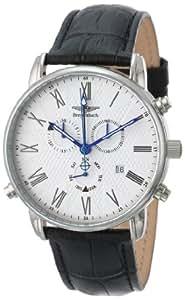Breytenbach BB7720W - Reloj de caballero de cuarzo, correa de piel color negro