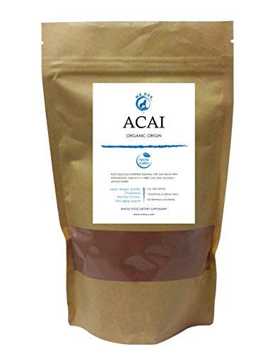 - Natural Acai Berry Juice Powder 1lb (16 Oz)- Super Antioxidant Cleanse- All Potent Health Juice-From Organic Origin