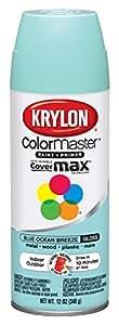 Krylon 51512 Blue Ocean Breeze Interior and Exterior Decorator Paint - 12 oz. Aerosol