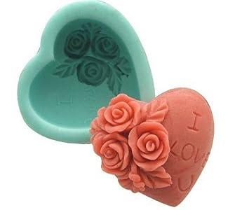 Allforhome - Moldes de silicona para hacer jabón casero con forma de corazón - Ideales para el día de San Valentín: Amazon.es: Hogar