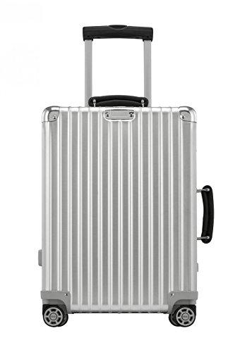 Rimowa Classic Flight IATA Carry on Luggage 21″ Inch Cabin Multiwheel 33L TSA Suitcase Silver