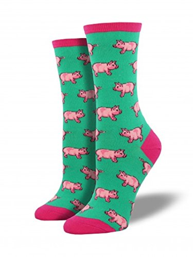 Socksmith Ladies This Little Piggy Sock,Jade,9-11