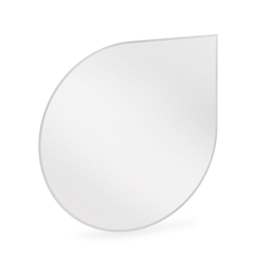 Funkenschutz Glas Bodenplatte Tropfen 1,25x1,25 m