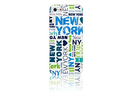 Spada 008844 Smartphone Schutzhülle Back Case - IMD - iPhone 5/5S - Weiß - New York
