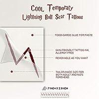 120 PCs Wizard Lightning Bolt Scar Tatuaje temporal para Wizard ...