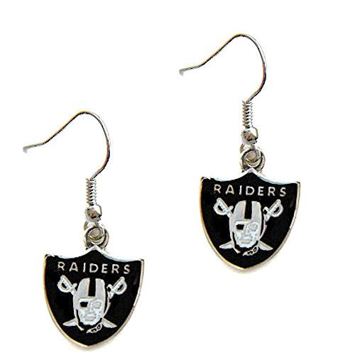Oakland Raiders Dangle Logo Earring Set Charm Gift NFL