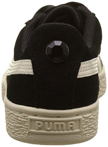Puma Mädchen Suede Heart Jewel Jr Sneaker Schwarz (Puma Black-Whisper White)